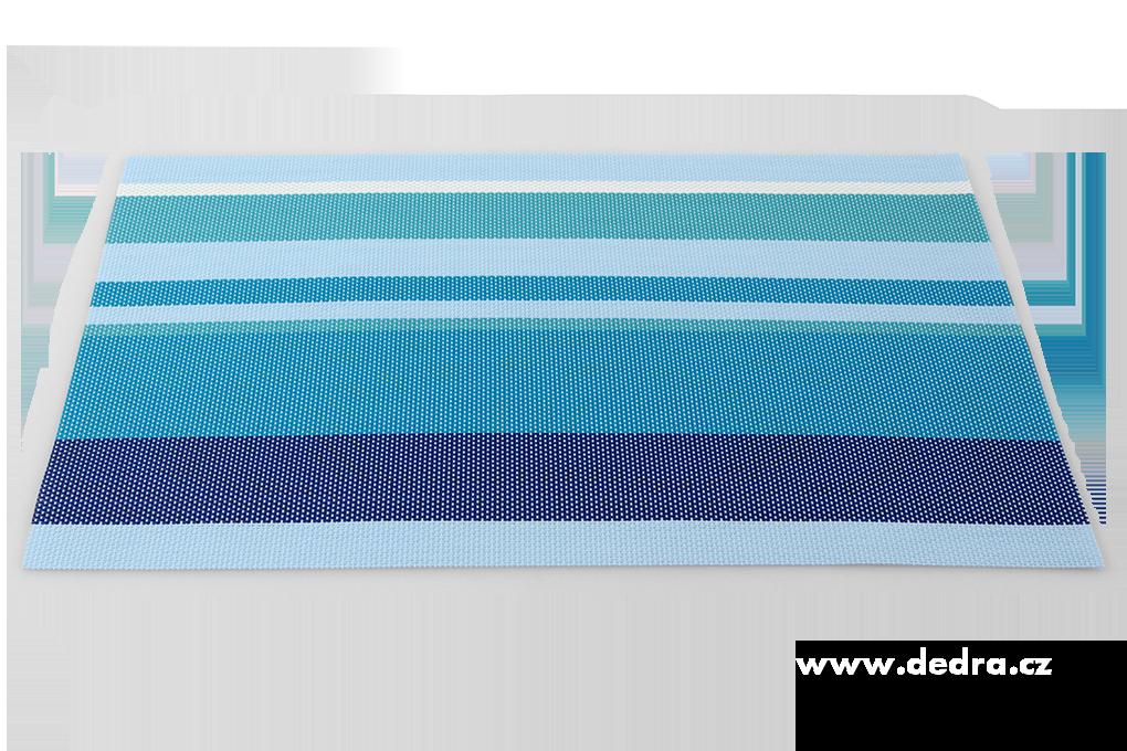 Omyvatelné prostírání pruhované barevné modré tóny