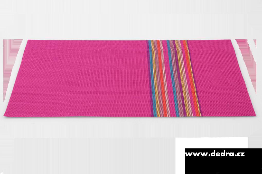 Omyvatel.prostírání s barevnými pruhy růžové