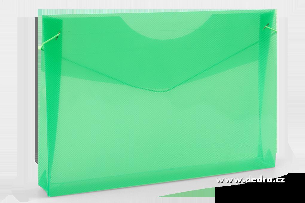 Spisové desky DEDRA z průhledného plastu mentolové