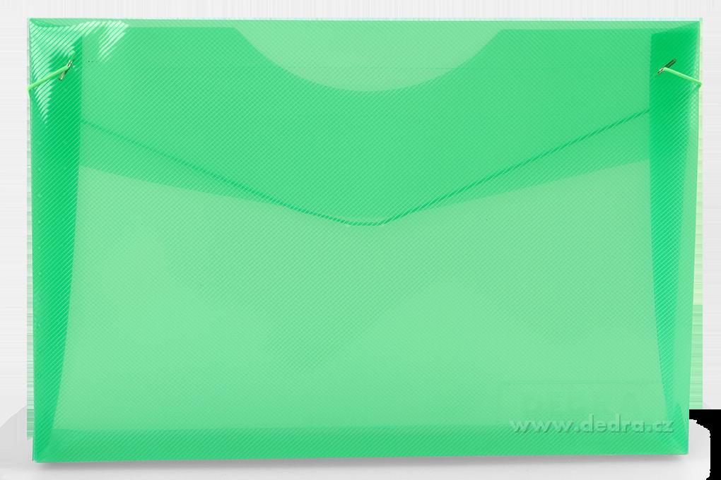 DA85281-Spisové dosky DEDRA z priehľadného plastu mentolové