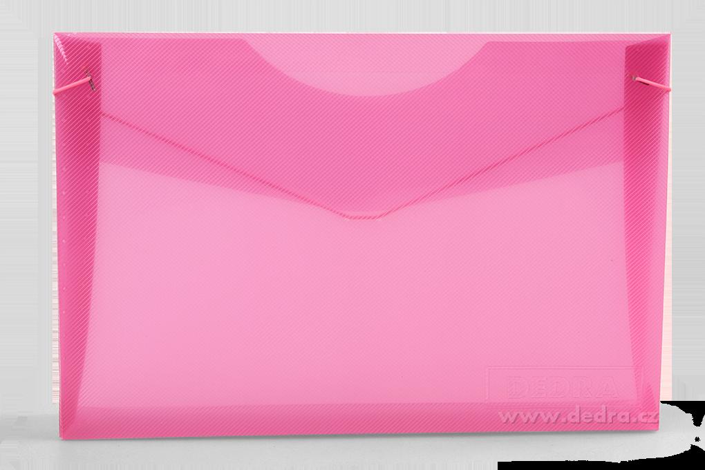 DA85282-Spisové dosky DEDRA z priehľadného plastu ružovej