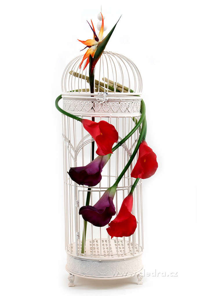 DA85673-Calla červená výška 77 cm ateliérová kvetina