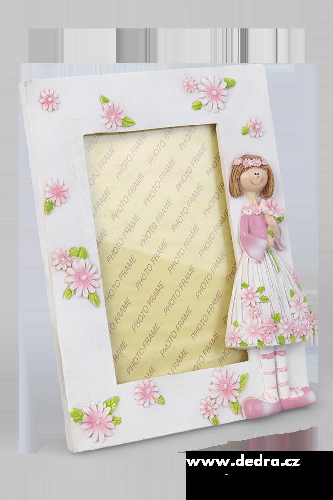Fotorámeček, květinová panenka