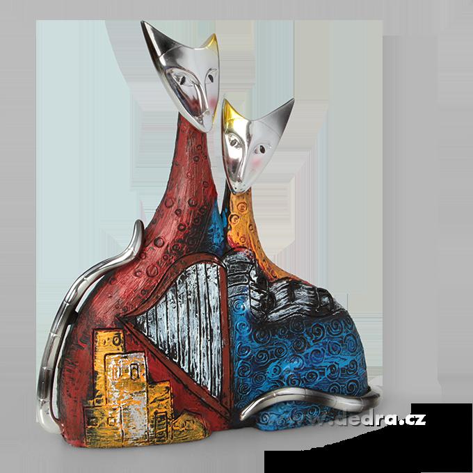 Duo divadelní kočka, dekorace z přírodní