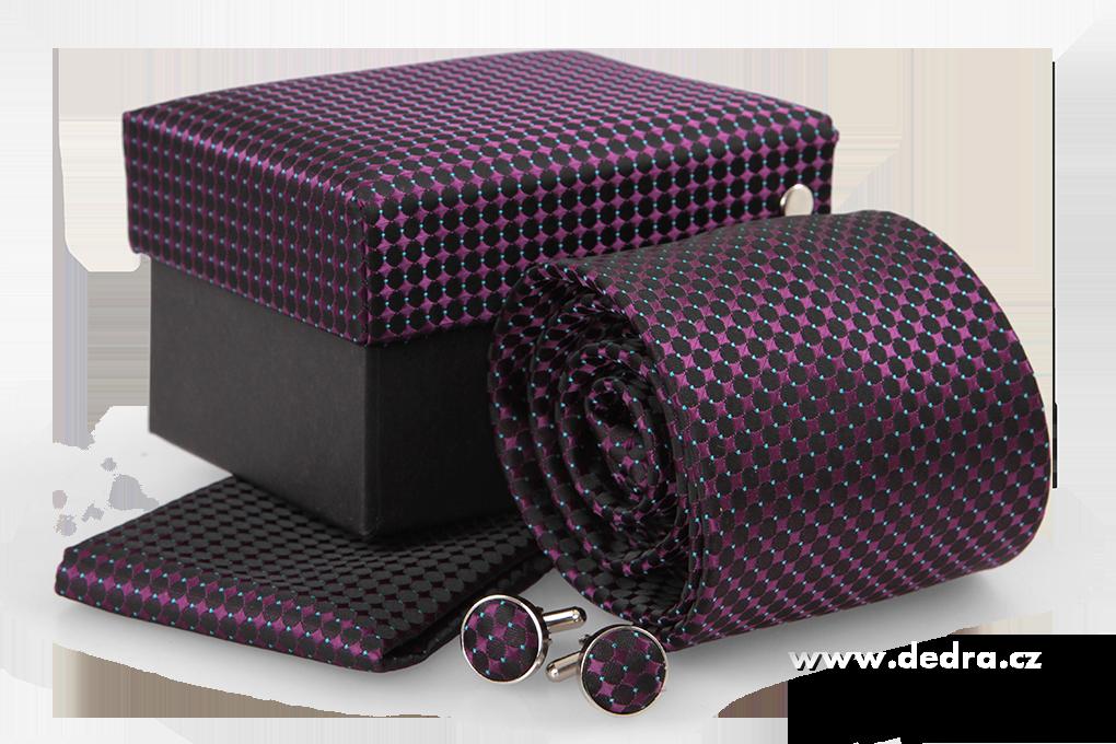 5 dílná sada ELROY kravata,kapesníček a 2 ks knoflíčků