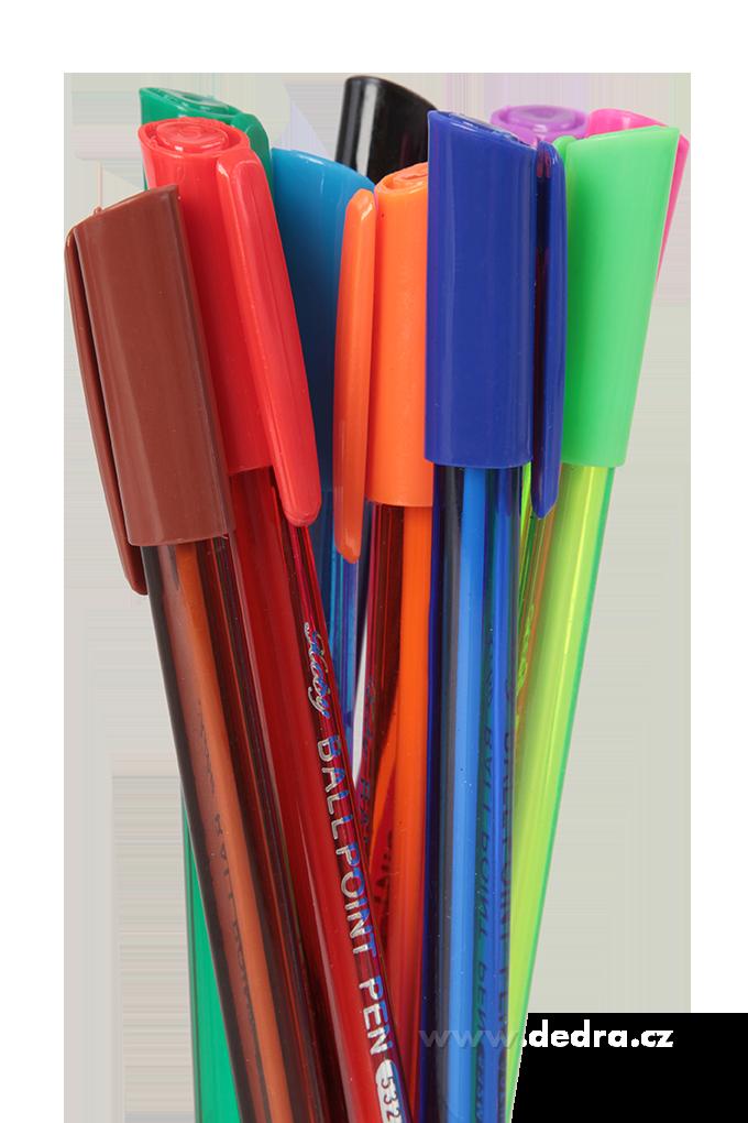 10 ks barevná kuličková pera