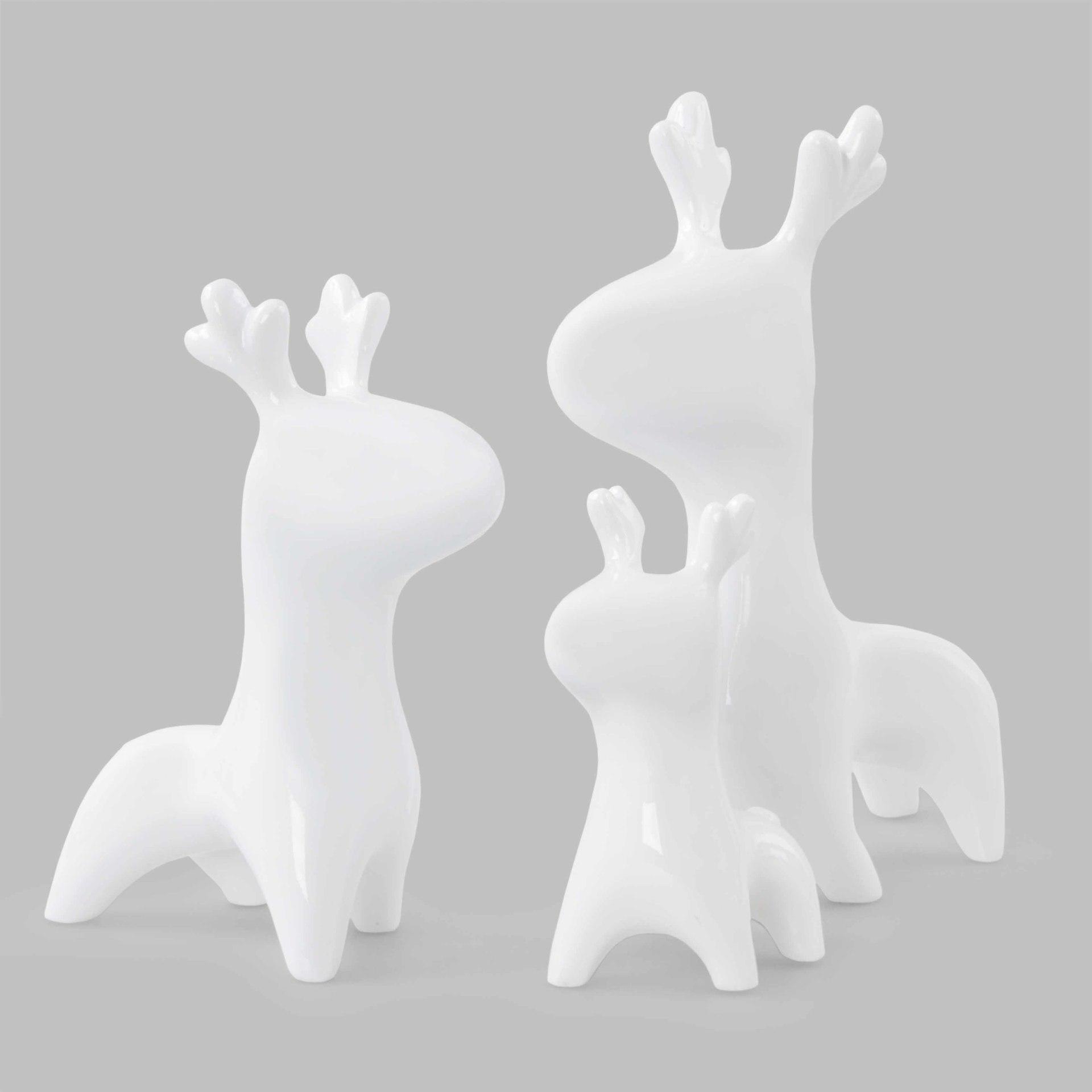 Jelení rodinka, 3 dekorativní figurky