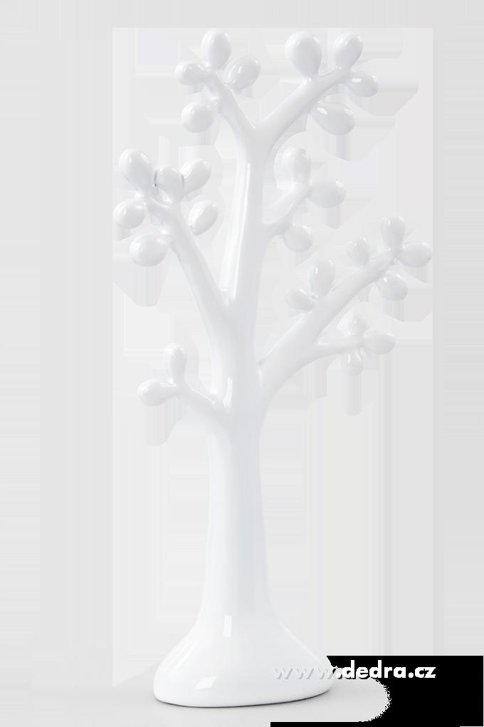XXL závěsný stojan na šperky 42 cm korál white