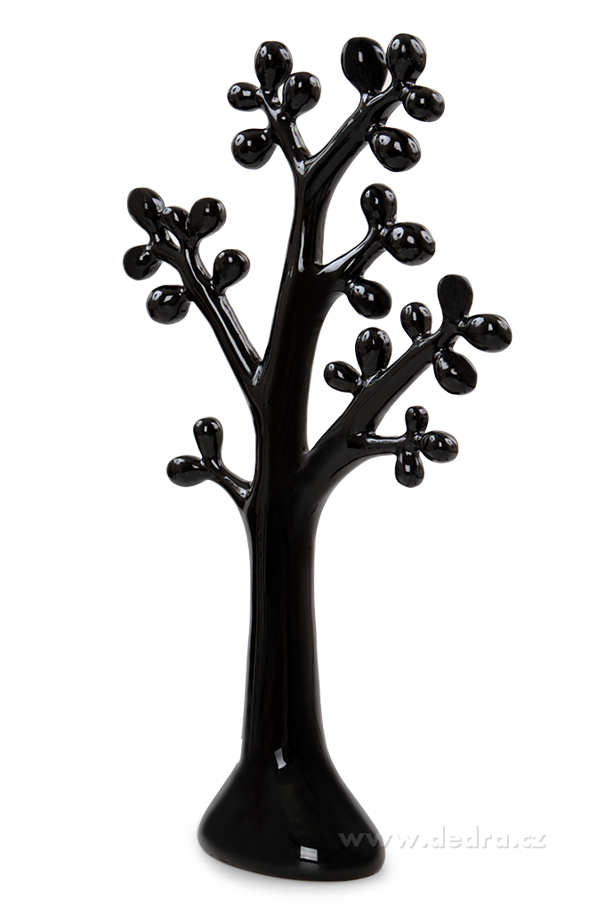 XXL závěsný stojak na šperky korál 42 cm black