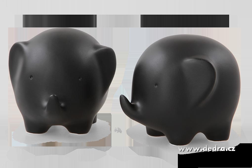 Two elephants 2 ks dekorativ.slon black