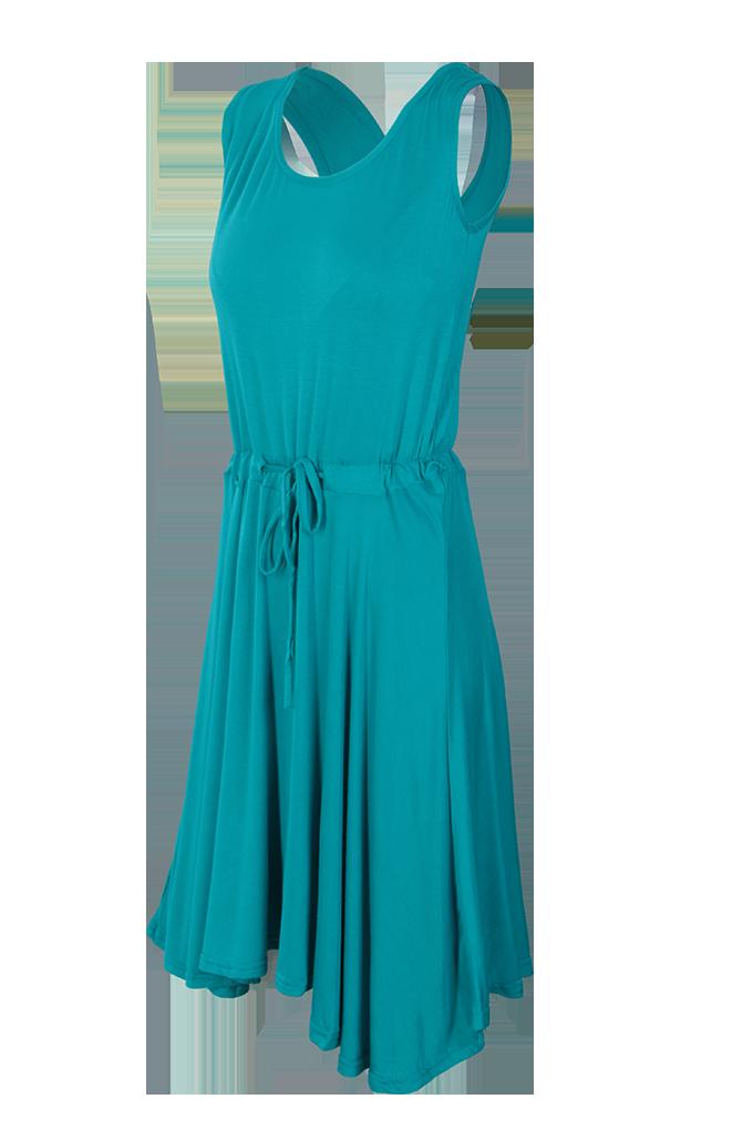 BRENDA vzdušné šaty, tyrkysové