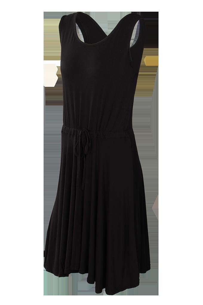BRENDA vzdušné šaty, černé