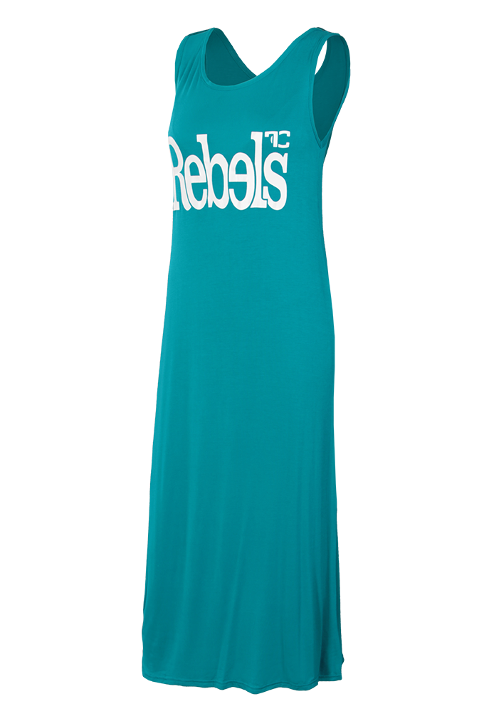 Dlouhé šaty REBELS, tyrkysové