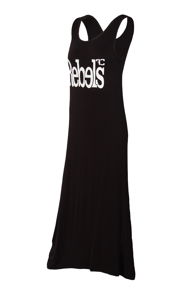 Dlouhé šaty REBELS, černé