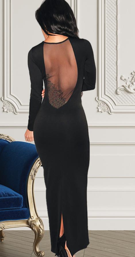 ABRIL, šaty s průhlednou