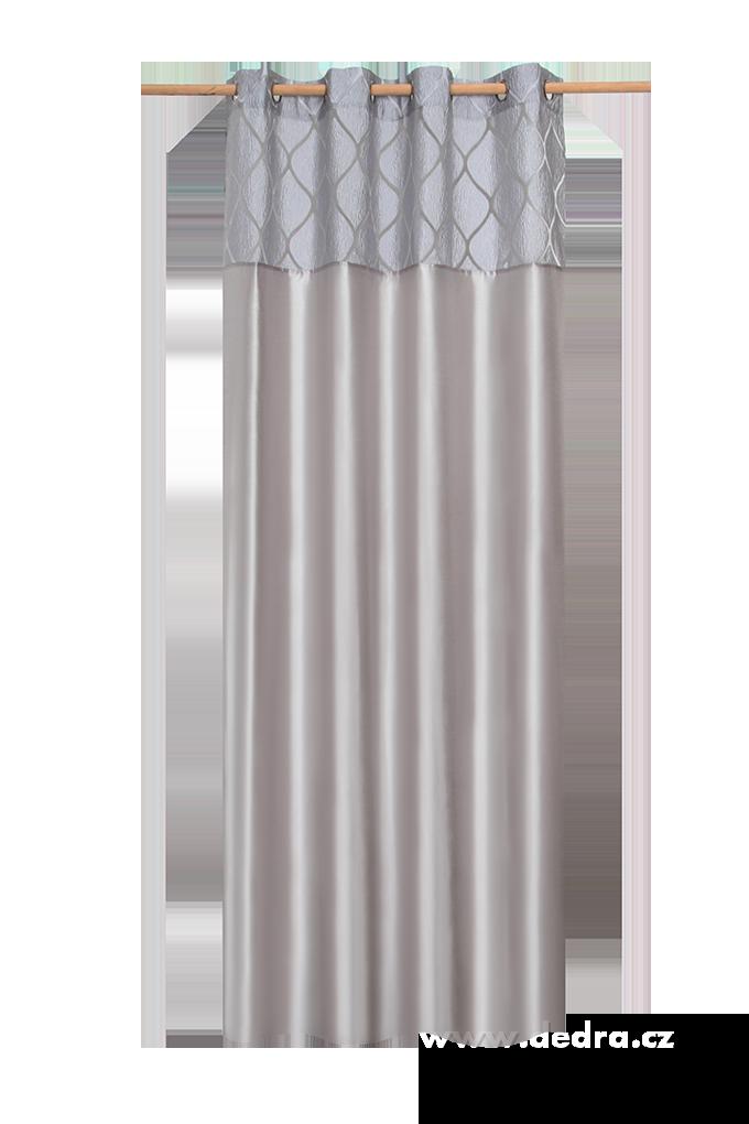 Silk decor dekorativní závěs šedo-stříbrný