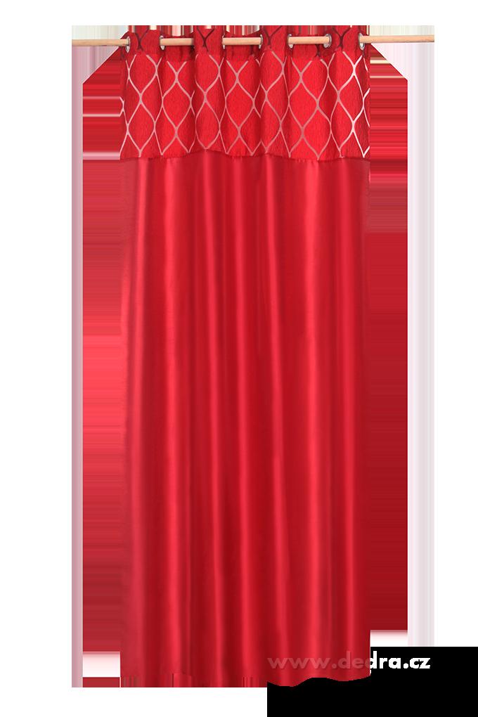Silk decor dekorativní závěs červený
