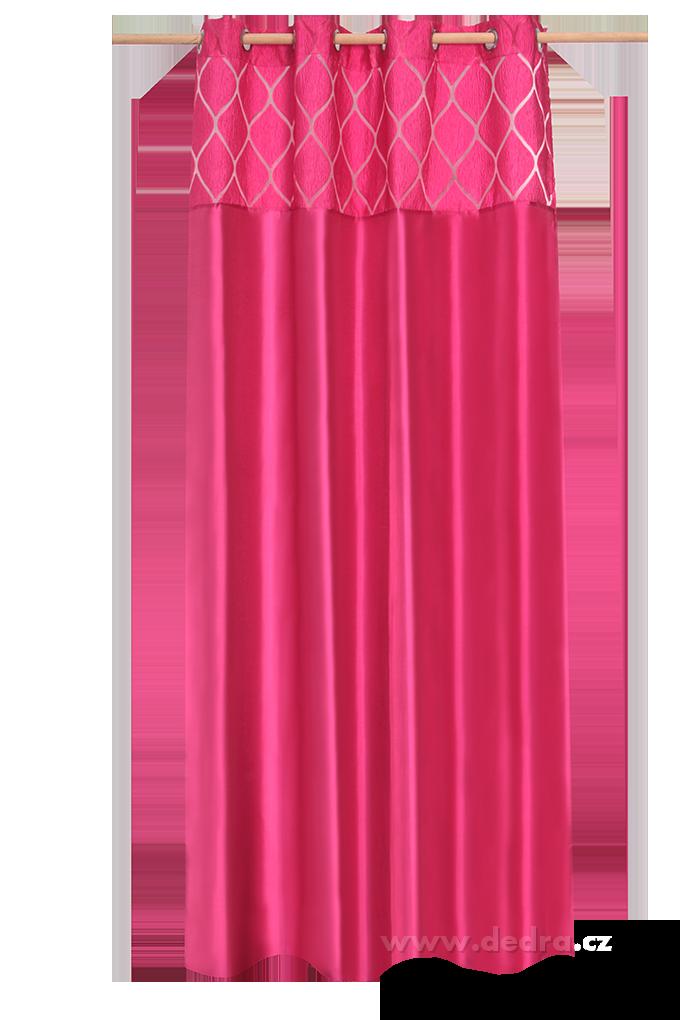 Silk decor dekorativní závěs fuchsiový