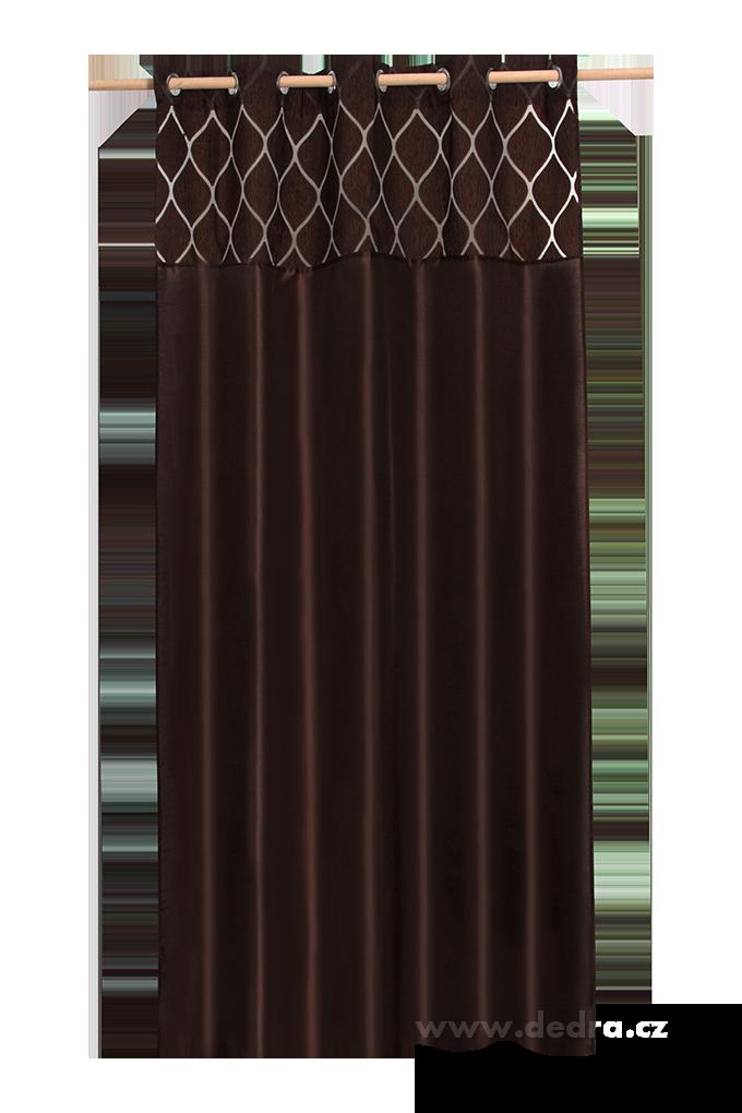 Silk decor dekorativní závěs čokoládový