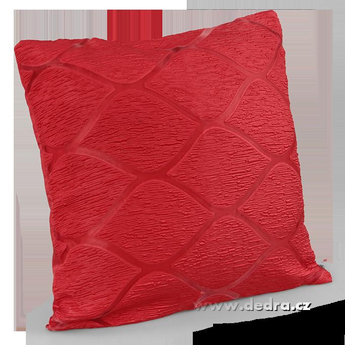 Silk decor potah na polštář červený