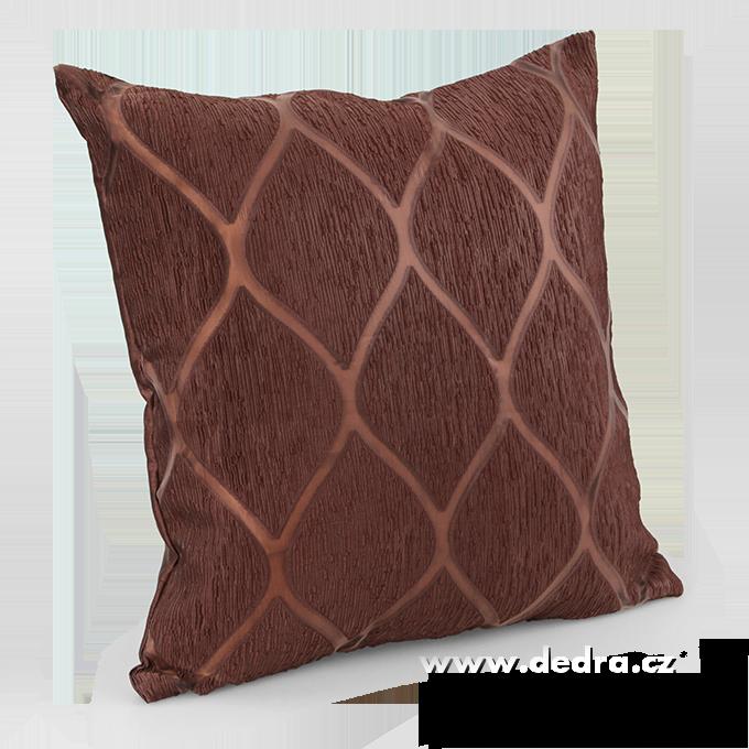 Silk decor potah na polštář čokoládový