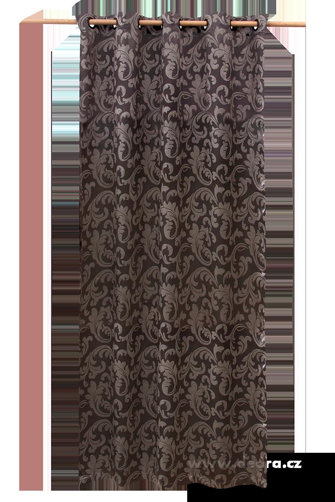Jacquard ornament žakárově tkaný závěs stříbrný