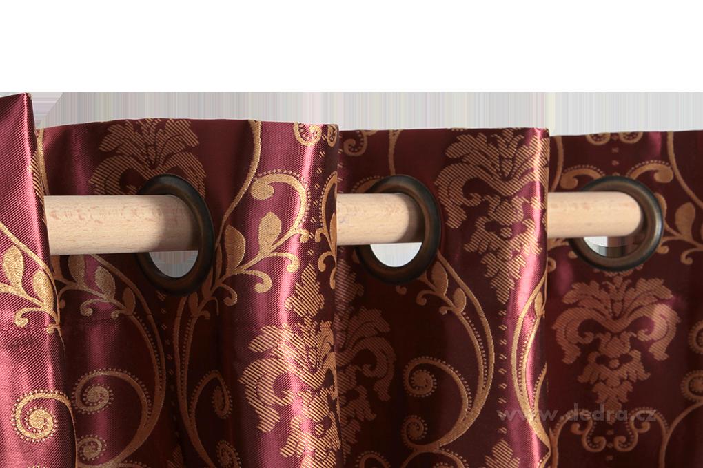 Jacquard ornament, žakárově tkaný závěs