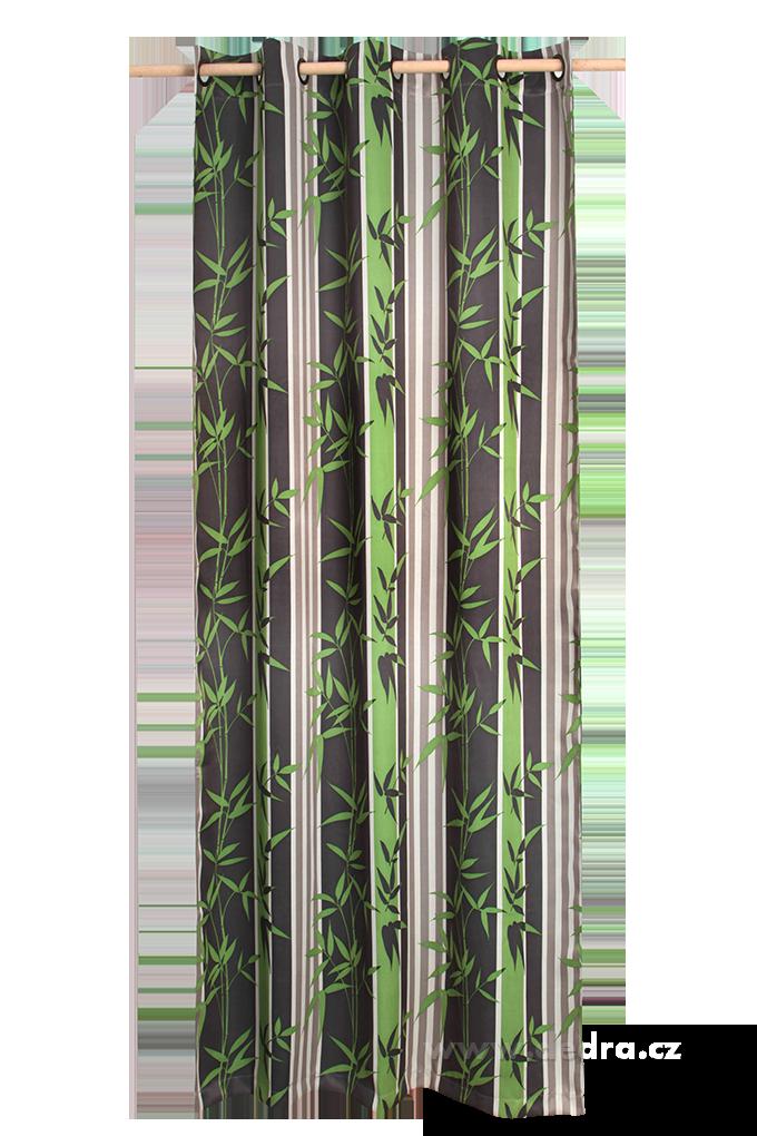 Zatemňující závěs BLACKOUT šedo-zelený
