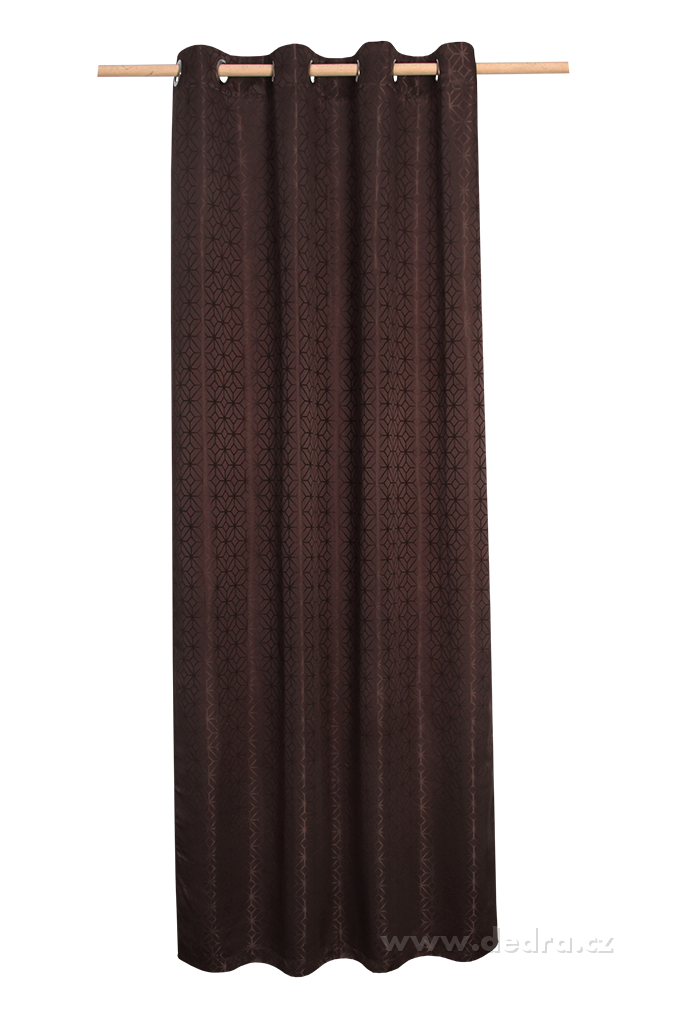 Žakárově tkaný závěs, hořká čokoláda