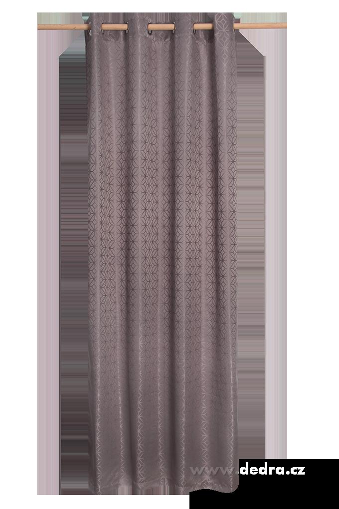Žakárově tkaný závěs stříbrný