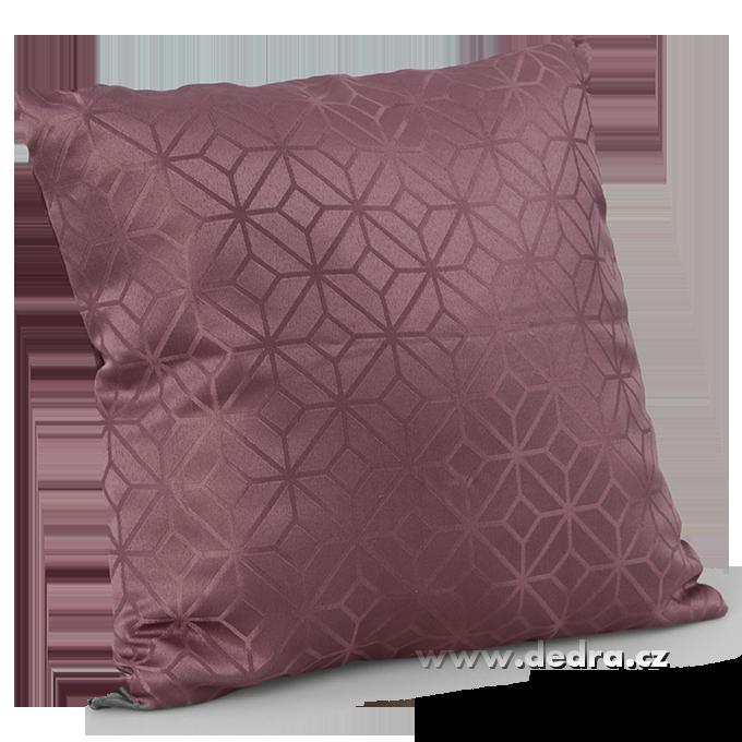Potah na polštář z pevné tkaniny hnědo-fialový