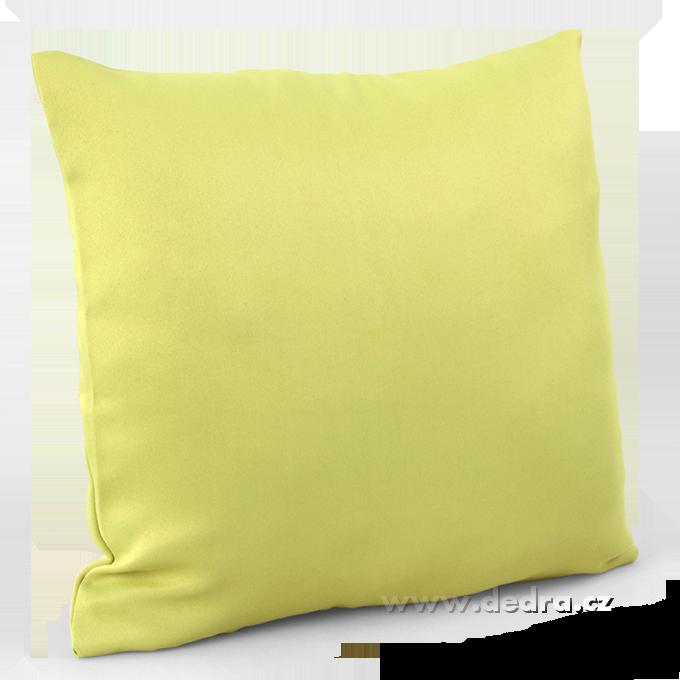 Potah na polštář z pevné tkaniny zelinkavý
