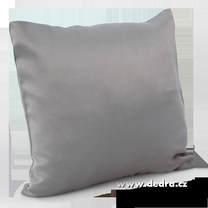Potah na polštář z pevné tkaniny šedý