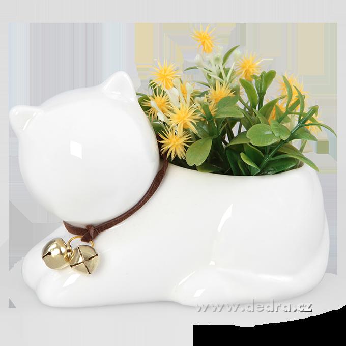 Keramická dekorace, květinová přízdoba