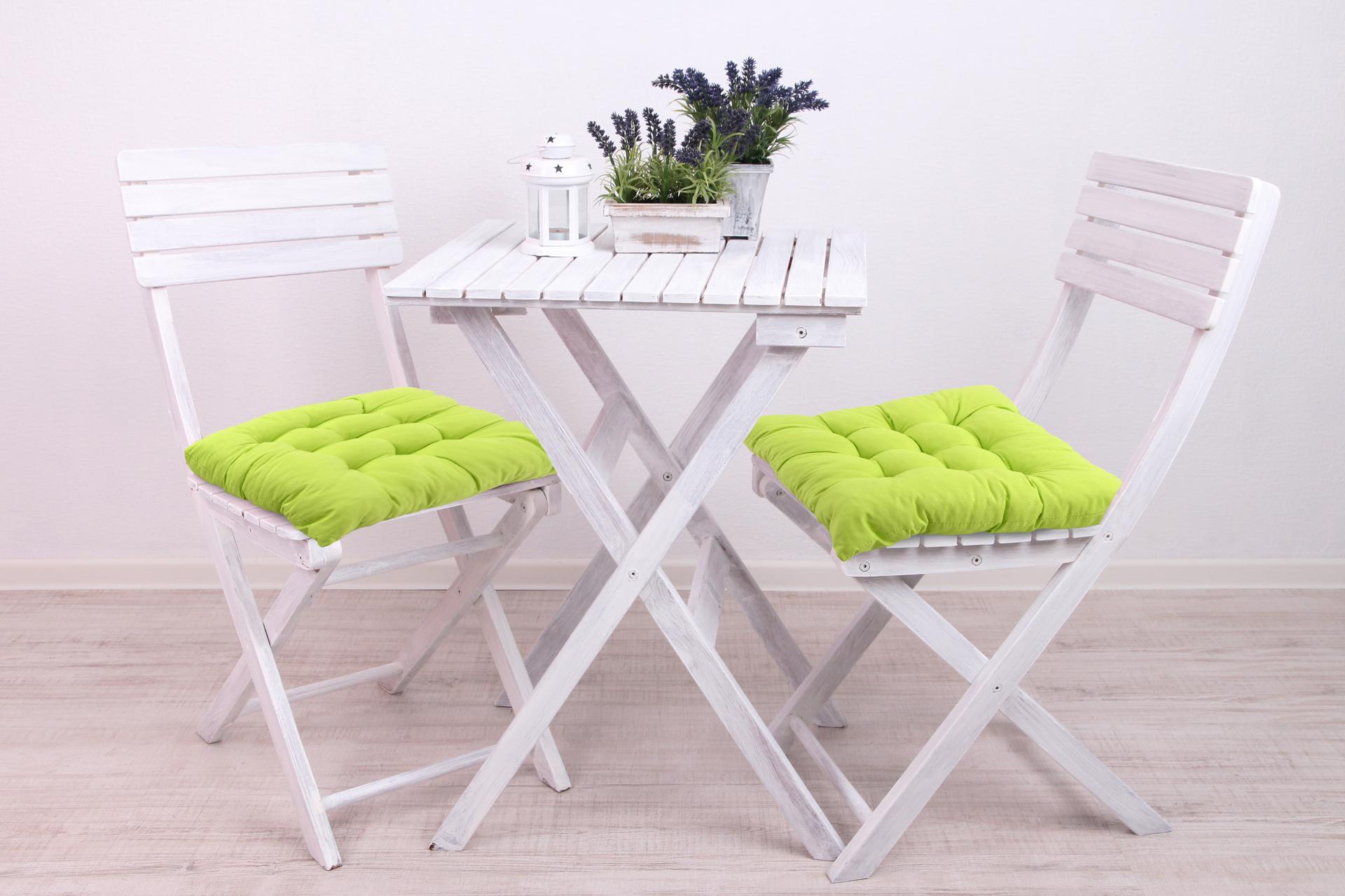 Sedák prošívaný na židle a křesla zelený