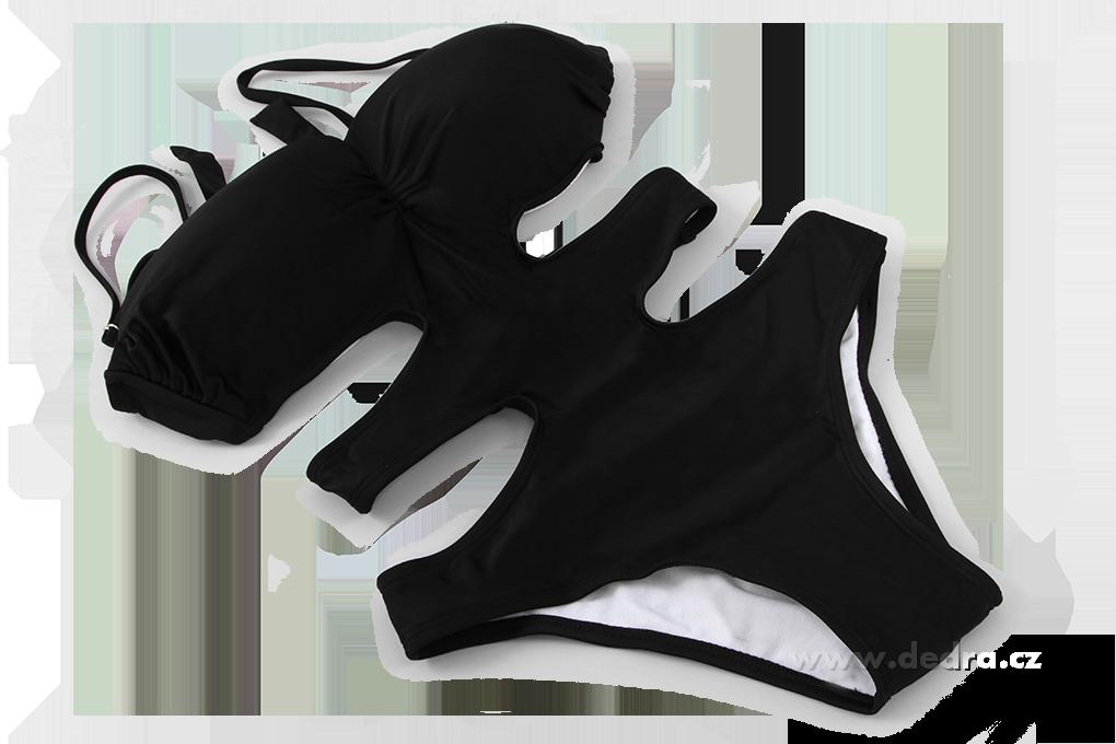 ELORA monokiny vykrojené plavky černé vel.1