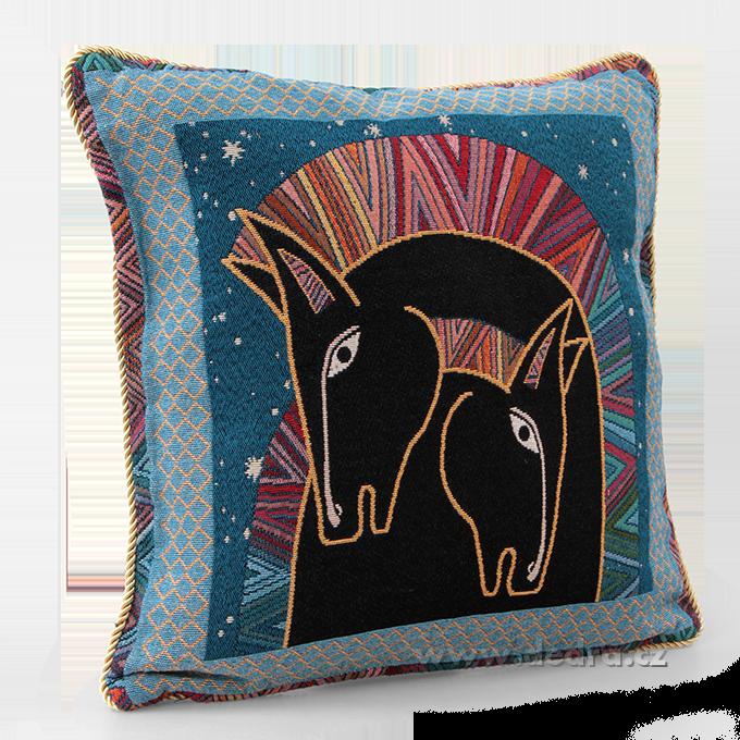 GOBELINO potah na polštář oboustranný Night horse head