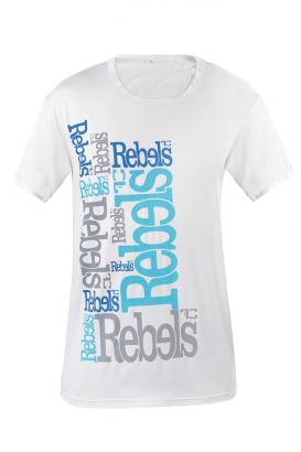 Rebels pánské triko bílé modrý nápis  L