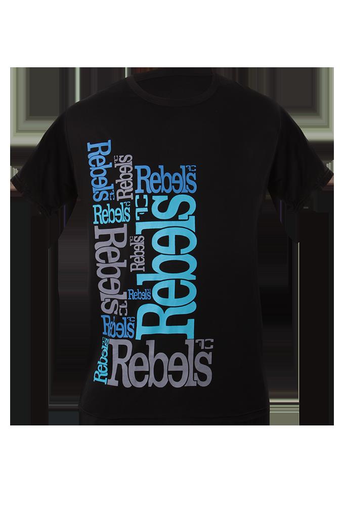 Rebels pánské triko černé modrý nápis  XXL