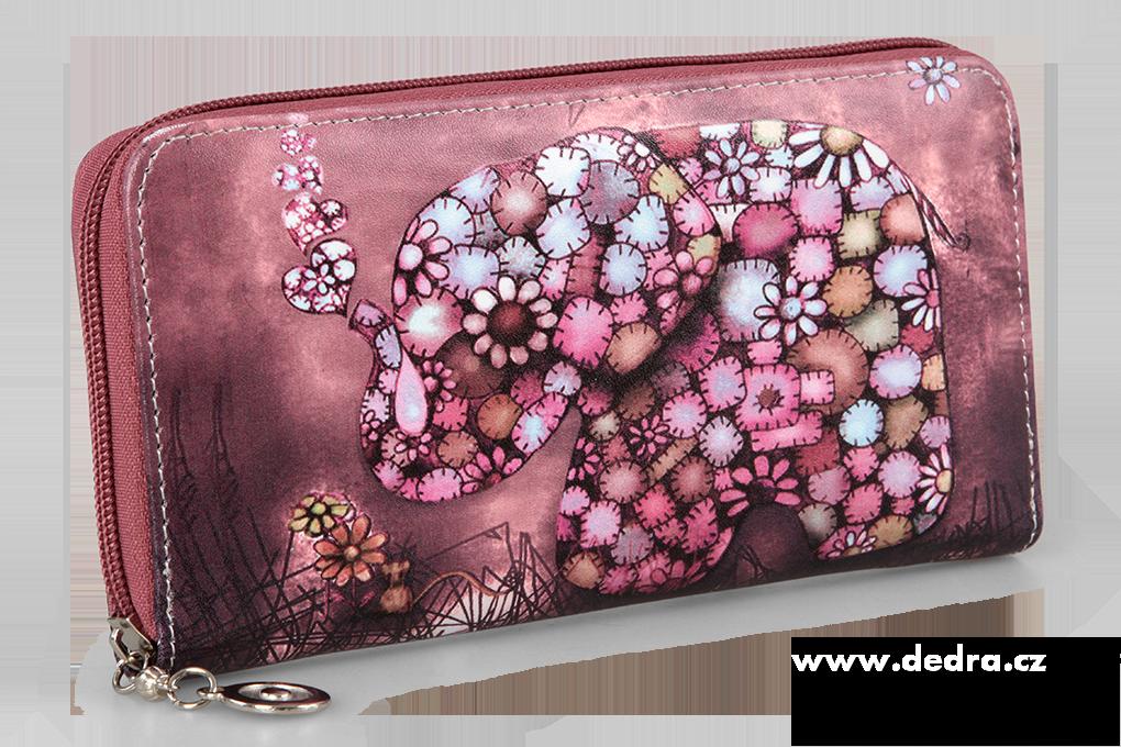 Dámská peněženka, s motivem slona