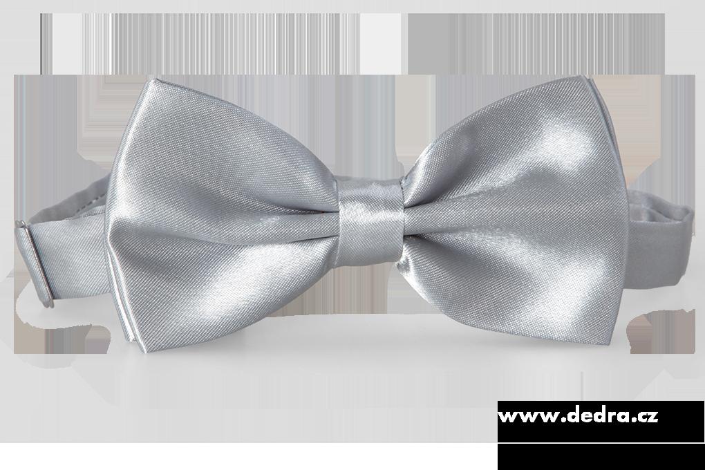 Saténový motýlek, stříbrno-šedý