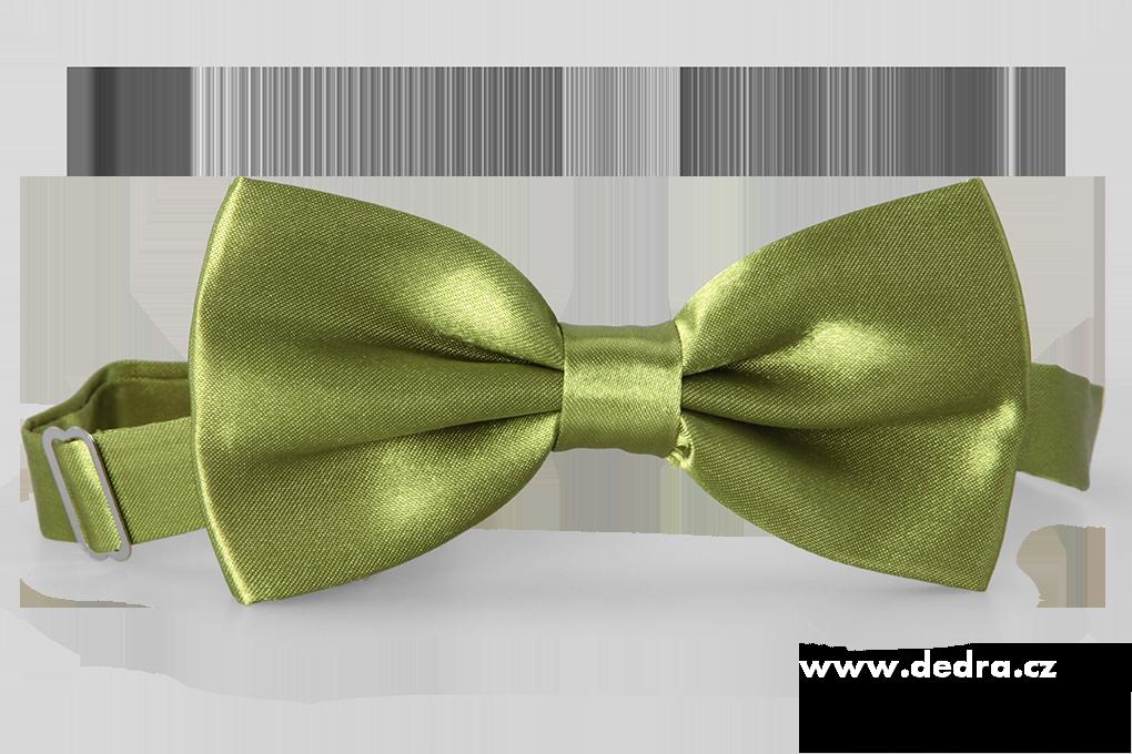 Saténový motýlek mechově zelený