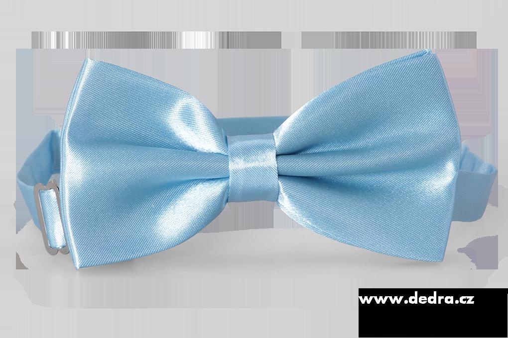 Saténový motýlek, světle modrý