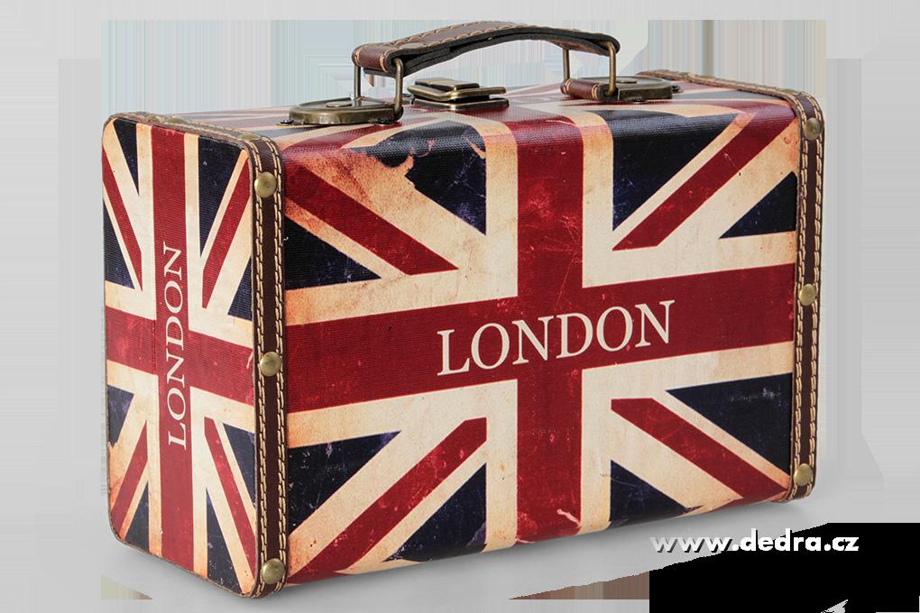 Dřevěný kufr menšípotažený ekokůží24 x 15 x 10,5 cm