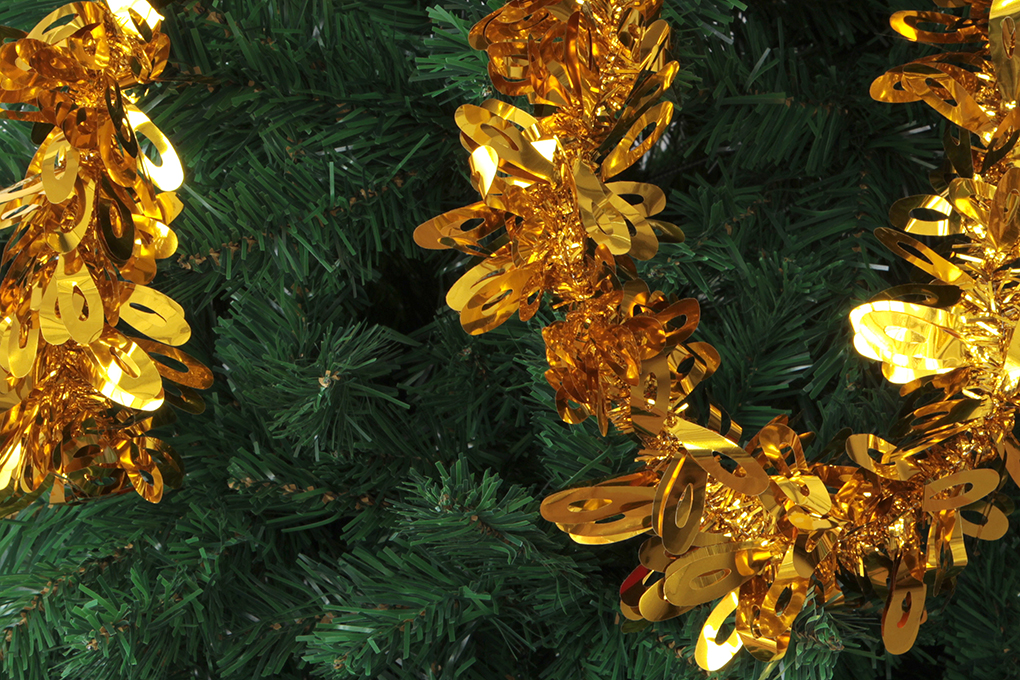 DA89095-Zlatý reťaz na vianočný stromček