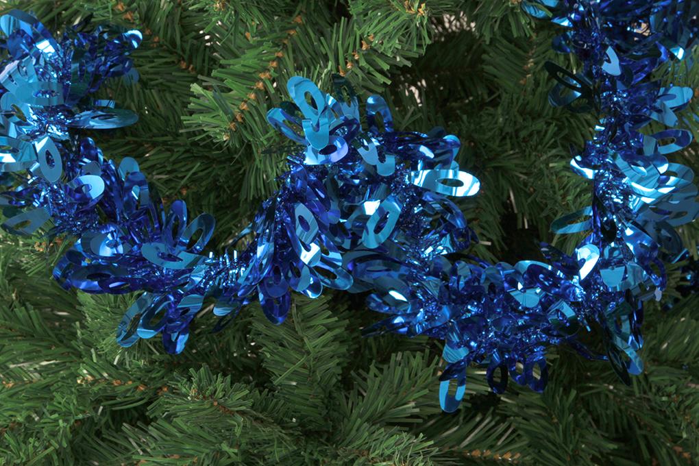 DA89096-Modrý reťaz na vianočné dekorácie