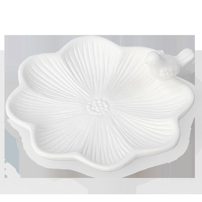 Keramická miska s dekorací ptáčete menší