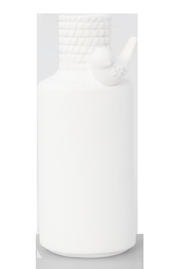 Keramická váza s aplikací ptáčete větší
