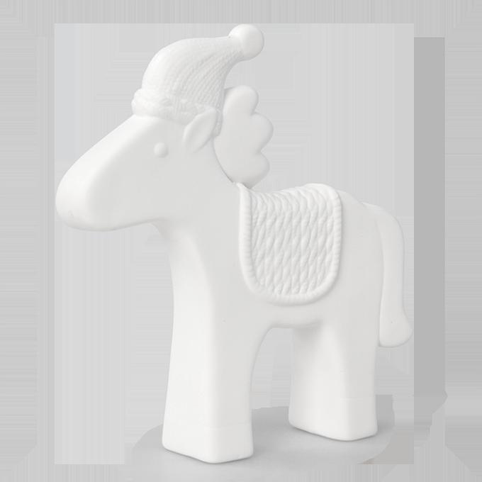 Dekorace koník keramická stojící
