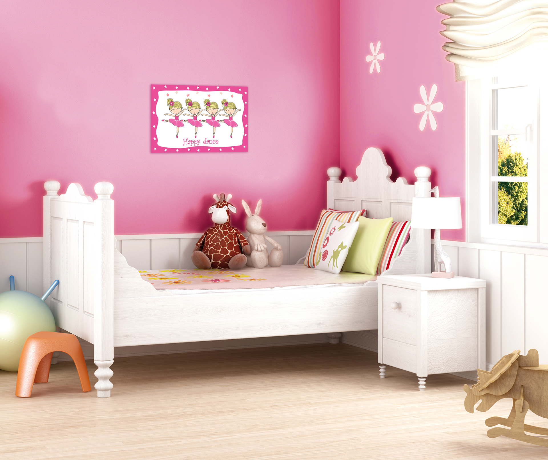 Obraz na plátně, růžové baletky